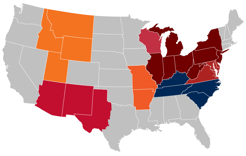 US Installer Territories